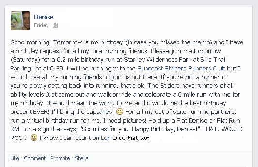 FB VirtualBirthdayRun edit Best Damn Birthday {Best Damn Race Giveaway}