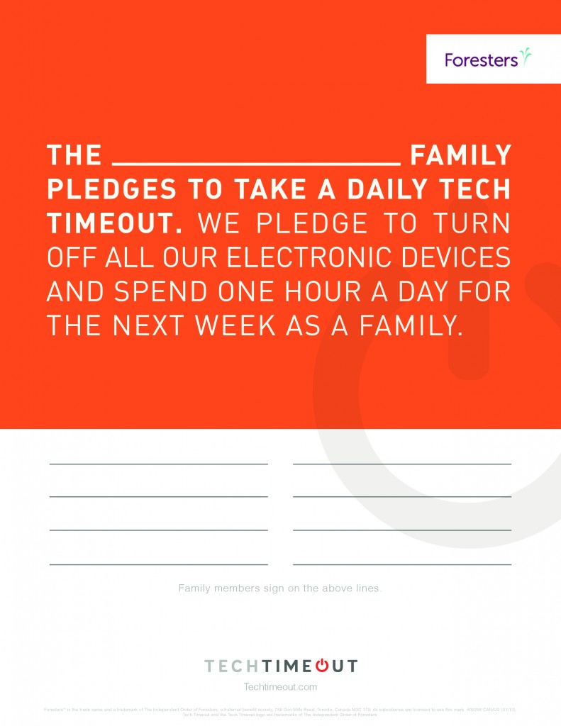 TechTimeoutPledgeForm 791x1024 The Taylor Family Takes a Tech Timeout
