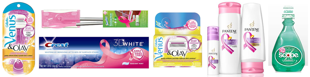 P&G PINK PRODUCTS