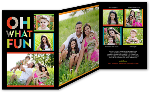 TRIFOLDCARD 5X7 OhWhatFun New Holiday Card Collections and Photo Gifts from Shutterfly {Giveaway}