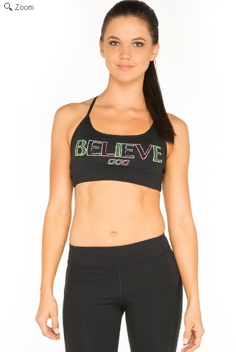 LornaJane BelieveSportsBra Lorna Jane Sweat Pink Holiday Fit List