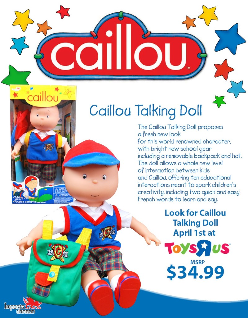 CaillouTalkingDoll 800x1024 Caillou Talking Doll Giveaway