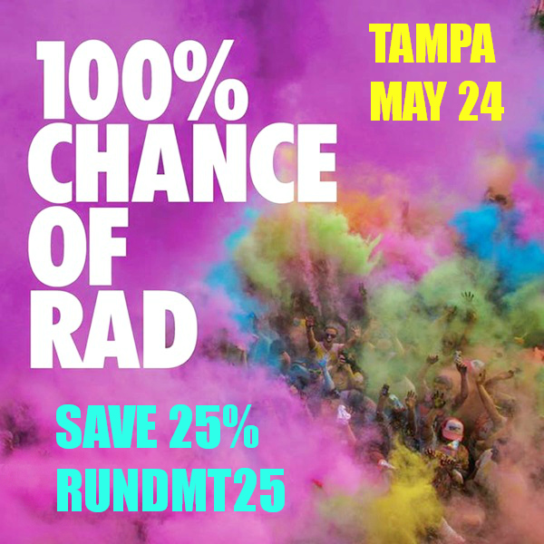 ColorMeRad RunDMT25 RANdom Thoughts About Run DMT Being MIA, Digital Running Spring Dawn Challenge and a Color Me Rad Giveaway