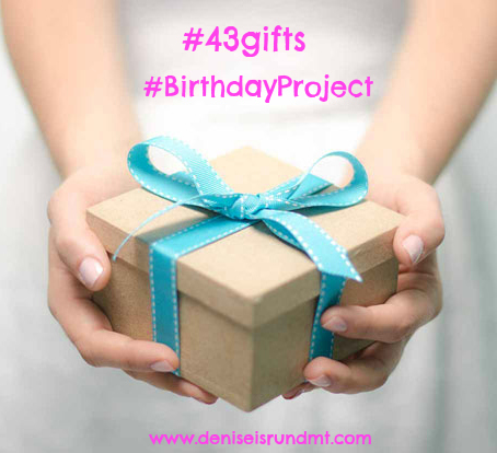#43gifts #birthdayproject