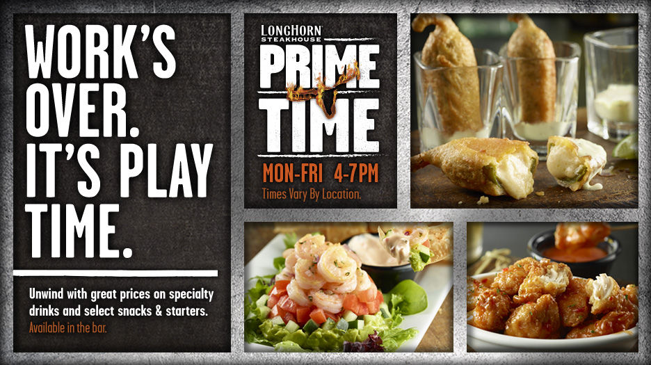 LHPrimeTime menu LongHorn Steakhouse Prime Time Menu #Review #Giveaway