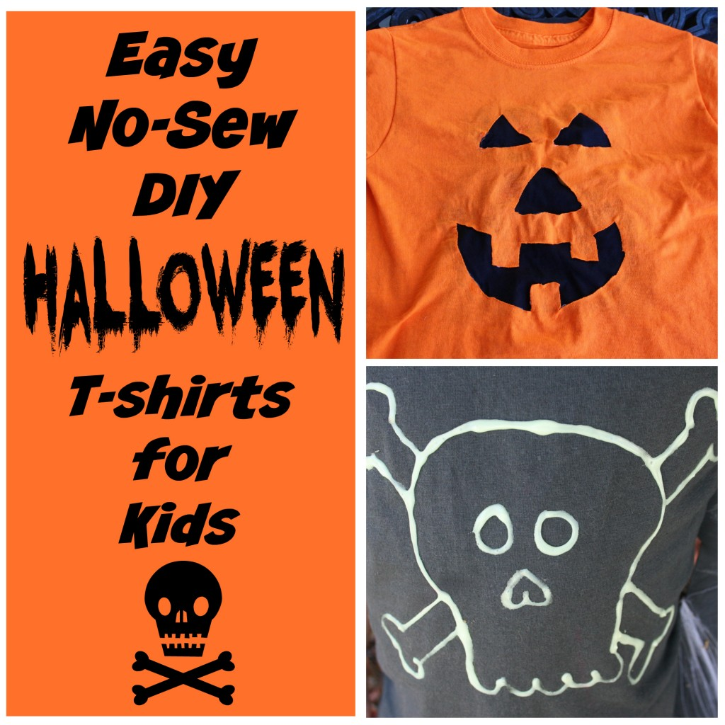 EASY No-Sew #DIY #Halloween t-shirts for kids