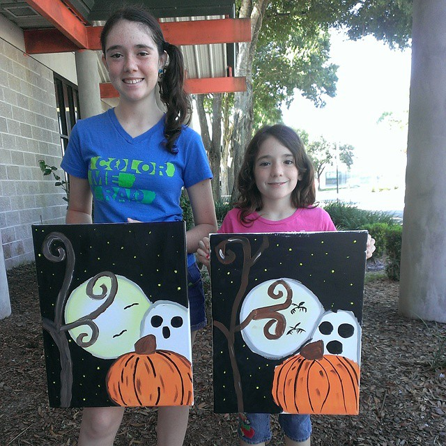 My girls had such a fun time at #ColorWheelz! #creative #Halloween #fun #Kidstoday #kids #family #art #painting #masterpiece #crafty #TampaBay #Tampa #thatssotampa