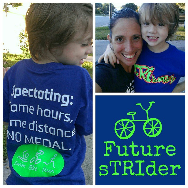 My #LittleLionMan loves his new #spectator t-shirt! As fast as he swims, bikes and runs, he''ll be participating in his first #tri soon enough! #triathlon #FitFamily #fitkids #FFkids #fitmom #FFcheckin #sTRIders #SuncoastStriders #FitFluential#SweatPink