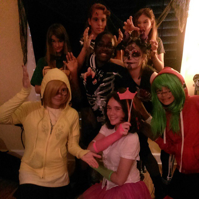 All the crazy freaks strike a pose for #Halloween! #HappyHallowteen