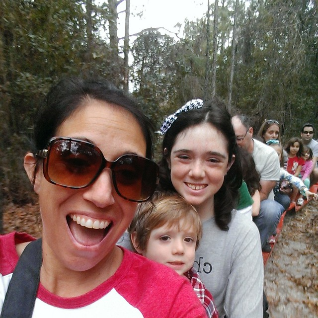 All aboard! It's a #Christmas #train ride! #Christmas2014 #fun #smile #TampBay #CrewsLake #Florida
