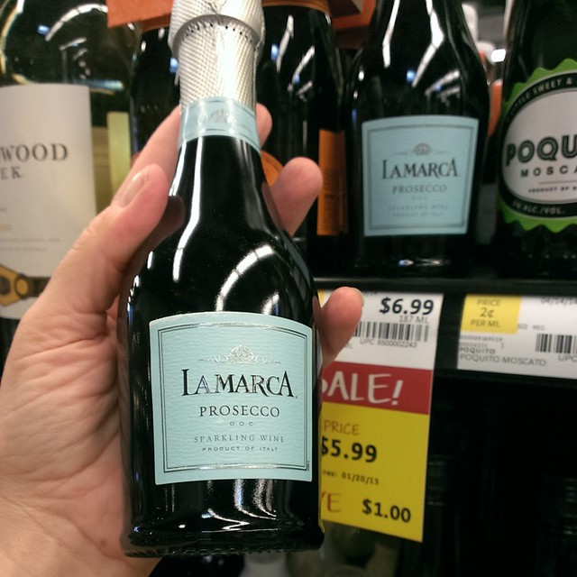 Discovered a pint-size of #lamarcasparkle at #wholefoodsmarket! Perfect stocking stuffer one-size serving of my favorite #prosecco to celebrate my next #marathon! #sparklingwine #celebrate #instarunners #giftguide #stockingstuffer #Christmas