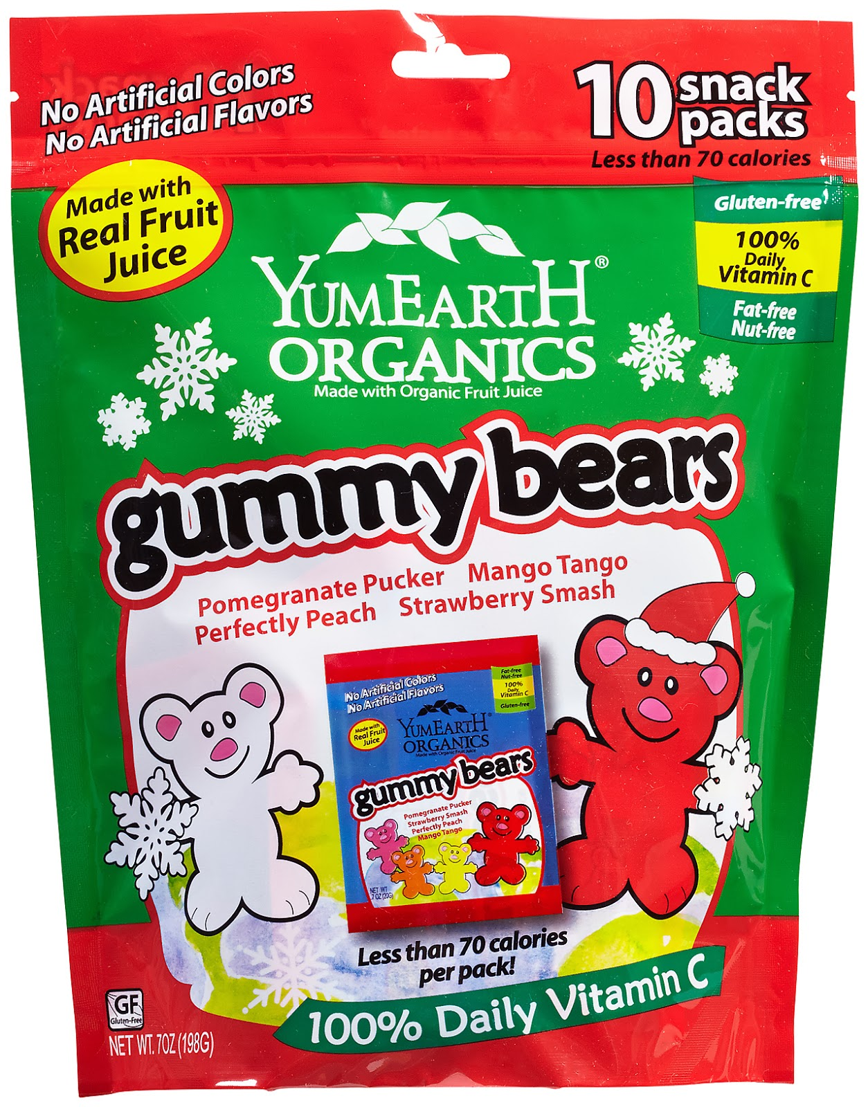 YumEarth Organic Christmas Gummy Bears