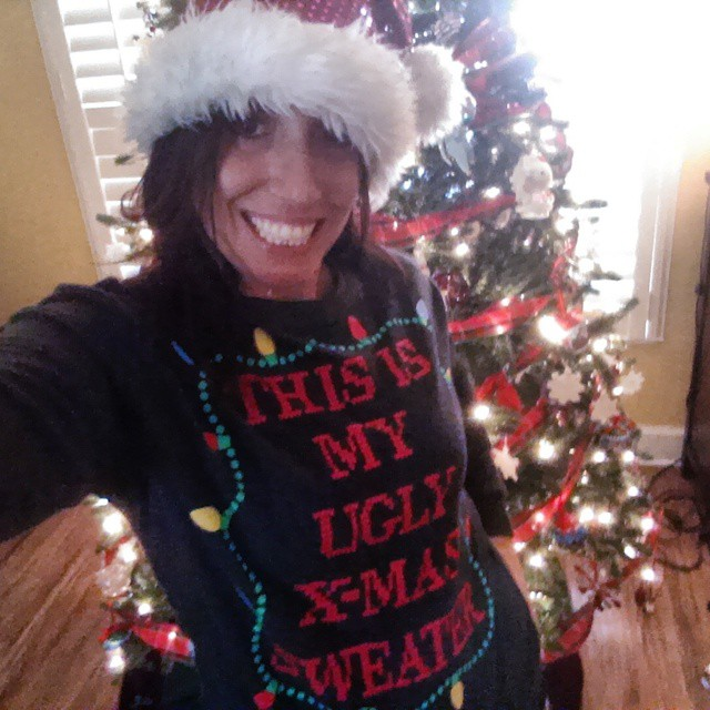 Happy National Ugly Christmas Sweater Day, y'all! Because you know I had one! Can't miss out of the fun! #UglyChristmasSweater #NationalUglyChristmasSweaterDay #instawesome #instaChristmas #instafamous #fun #smile #jolly
