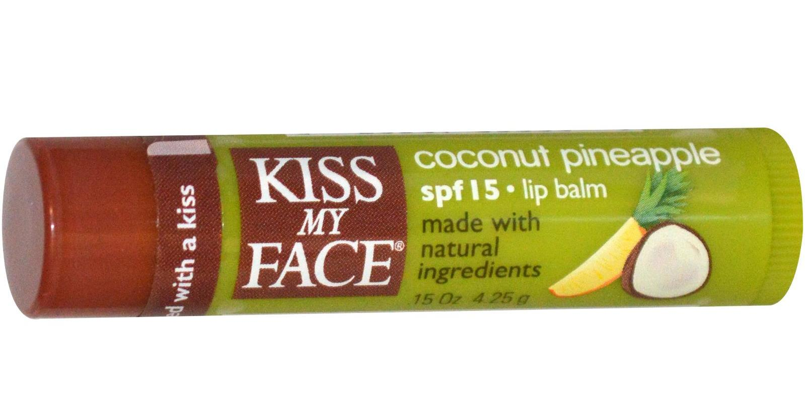 kiss my face coconut pineapple lip balm