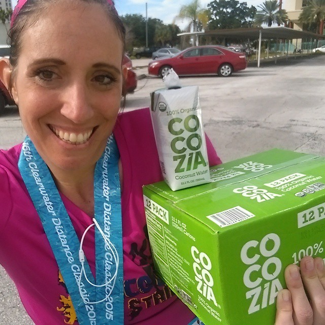 Thank you for the case of #organic #coconutwater @cocoziabev! Love this stuff! #runnerfuel #hydrate #cocozia #runnerd #runhappy #happypace