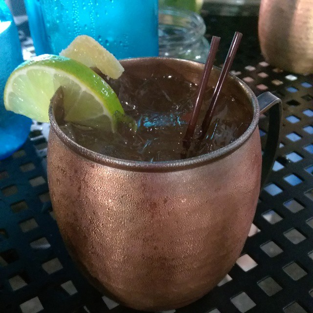 Dessert is served: a @CaneVodka Key Lime Ginger Mule! Yum! #GetyourEATSon #CaneVodka #DrinkLocal #SunshineMoonshine #TamiamiGin #USBGTB #109Proof  #TampaBayBloggers @tbbloggers