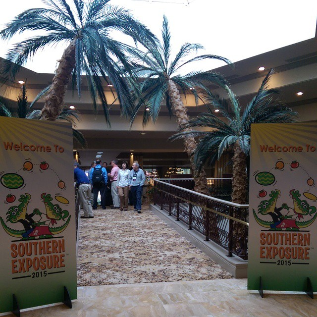 I have arrived at the @seproducecouncil #SouthernExposure in #Orlando! I'm thrilled to be here and excited to attend the @produceforkids cocktail reception this evening! I'm expecting lots on veggies on bamboo skewers. #GoodFoodForce #TampaBayBloggers @tbbloggers