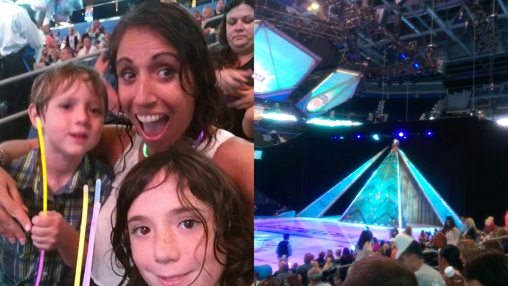 We were ready to Let it Glow for the opening performance for Disney on Ice: Frozen.