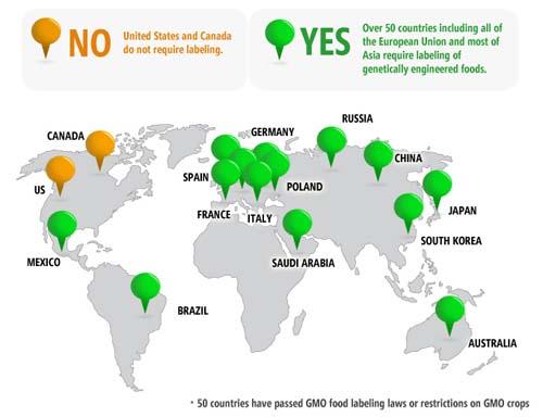 GMO Ban Map