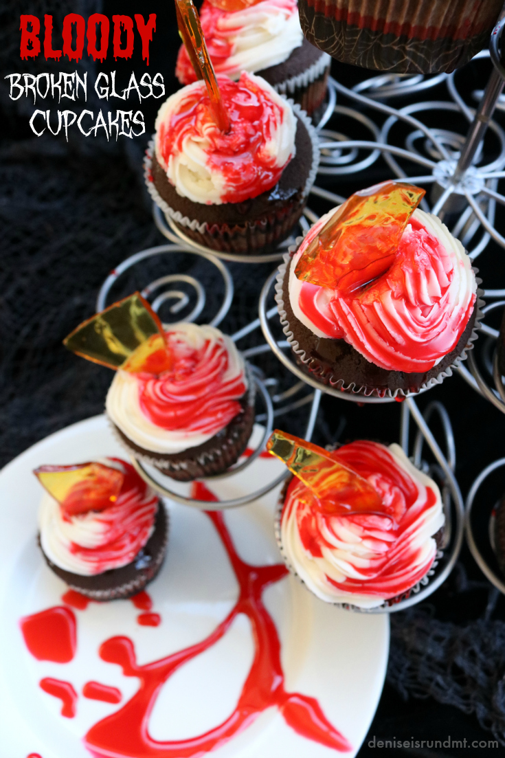 Bloody Broken Glass Cupcakes - Run DMT