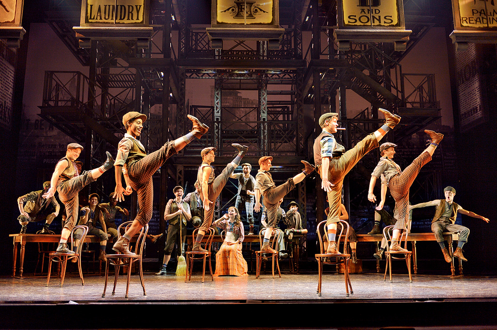 Original company, North American Tour of NEWSIES. ©Disney. Photo by Deen van Meer