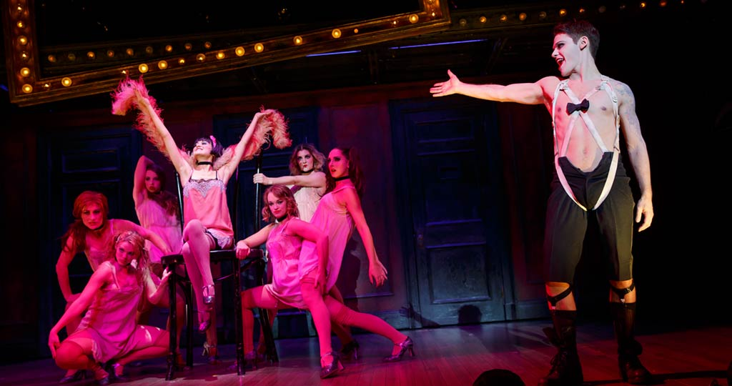 Cabaret4-Randy Harrison as Emcee - Andrea Goss as Sally