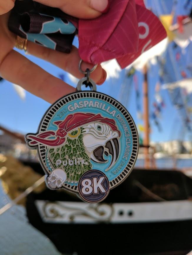 Gasparilla Distance 8K Medal - 2017