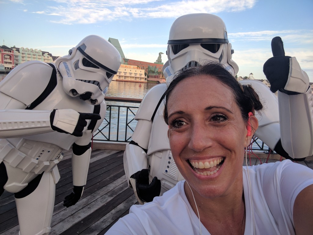 Star Wars Half Marathon - Boardwalk selfie2