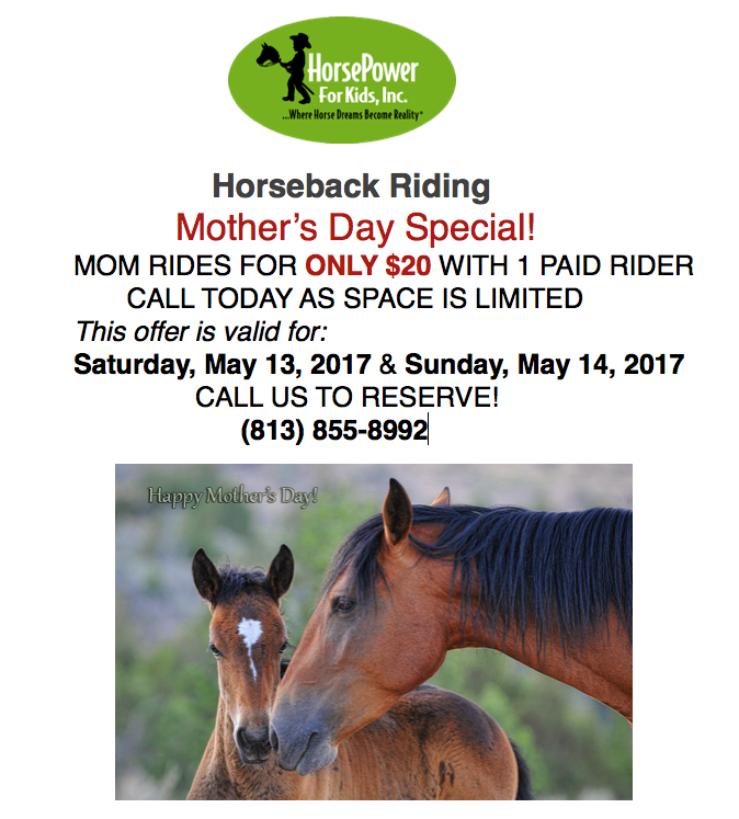 Horsepower 4 Kids - Mother's Day deals