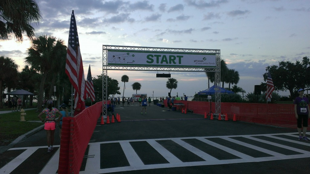 Thin Mint Sprint Start Line
