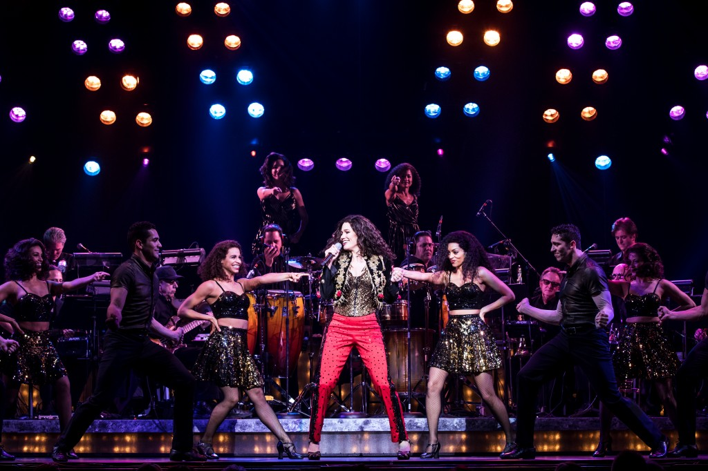 Christie Prades as Gloria Estefan and Company - Photo by Matthew Murphy