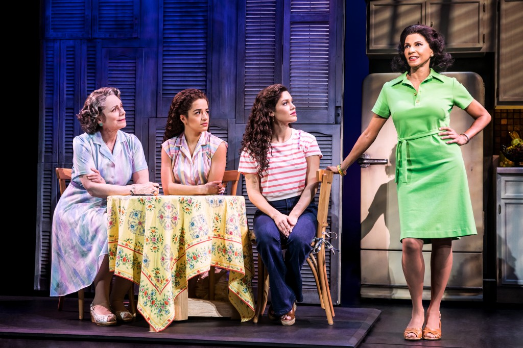 Alma Cuervo as Consuelo, Claudia Yanez as Rebecca, Christie Prades as Gloria and Nancy Ticotin as Gloria Fajardo - Photo by Matthew Murphy