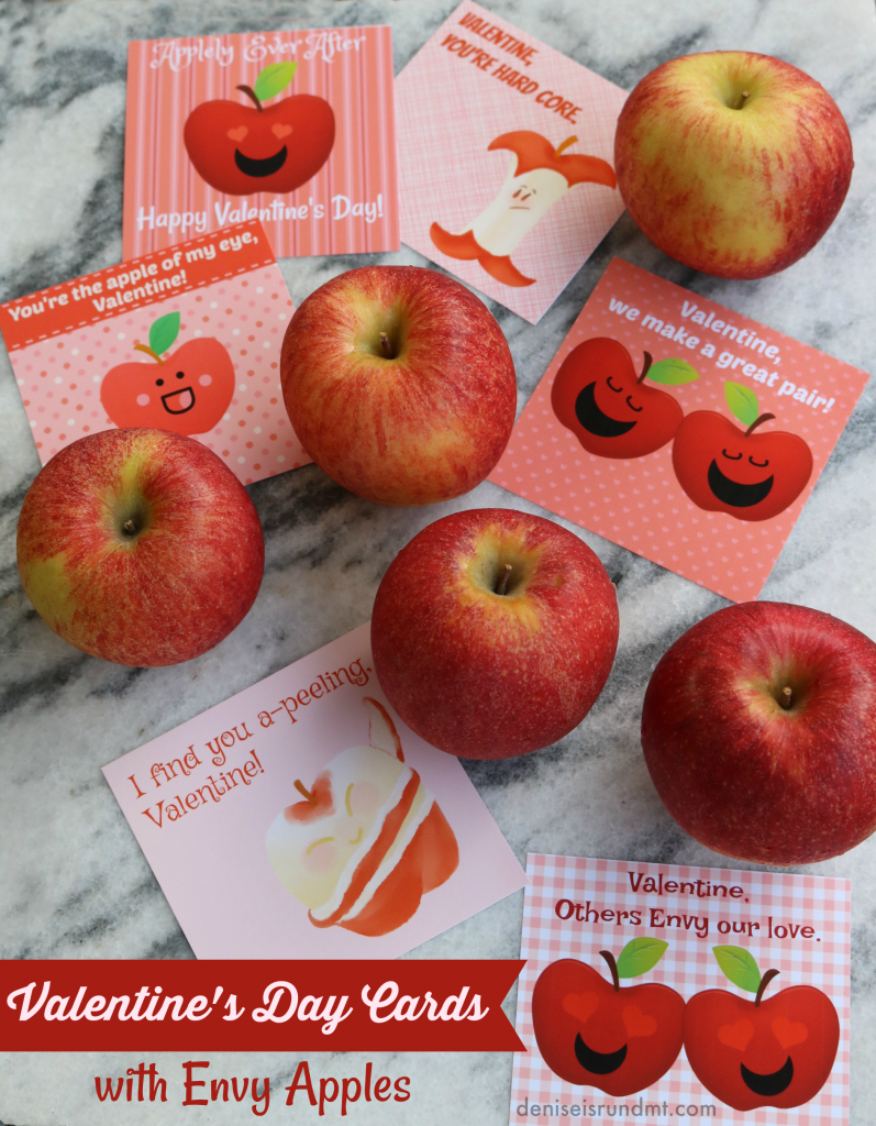 No Candy, Healthy Valentine's Day Cards with Envy Apples - Run DMT