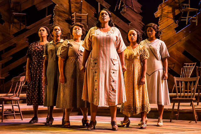 Carrie Compere (Sofia) and the cast of THE COLOR PURPLE. Photo credit: Matthew Murphy