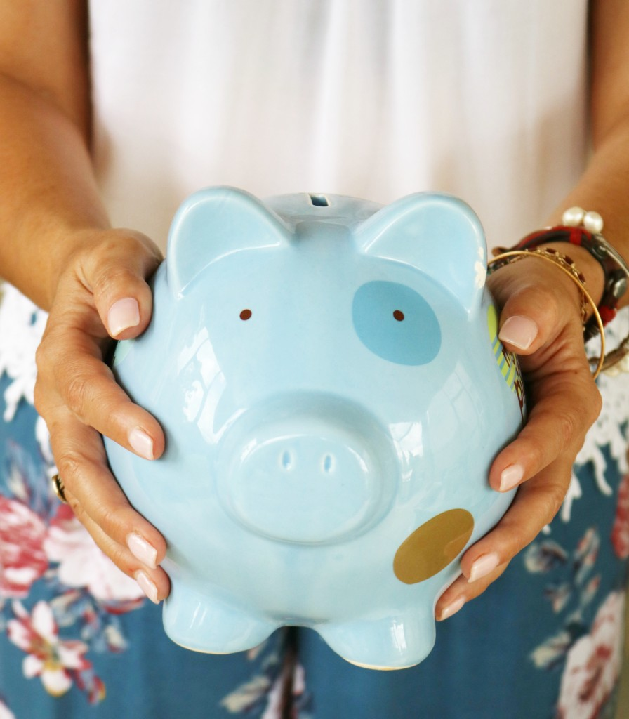 family -budget - piggy bank