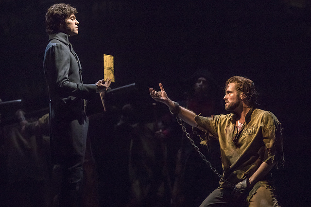 Nick Cartell as 'Jean Valjean' in the new national tour of LES MISÉRABLES. Photo by Matthew Murphy.