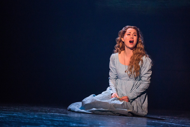 """I Dreamed A Dream"" - Mary Kate Moore as 'Fantine' in the new national tour of LES MISÉRABLES. Photo by Matthew Murphy."