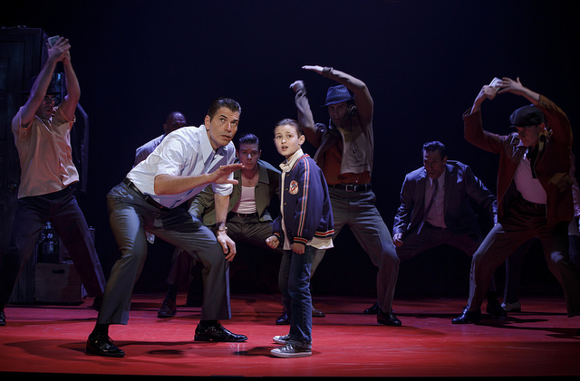 Joe Barbara (Sonny) and Frankie Leoni (Young C) and Company of A BRONX TALE - Photo: Joan Marcus