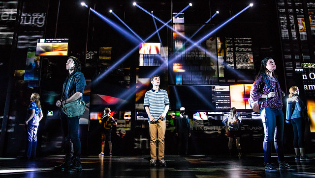 Ben Levi Ross as 'Evan Hansen' and the Company of the First North American Tour of Dear Evan Hansen. Photo credit: Matthew Murphy