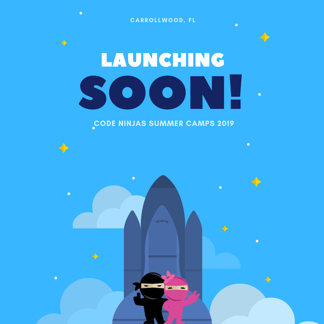Launching Soon! Code Ninjas Summer Camps - Run DMT