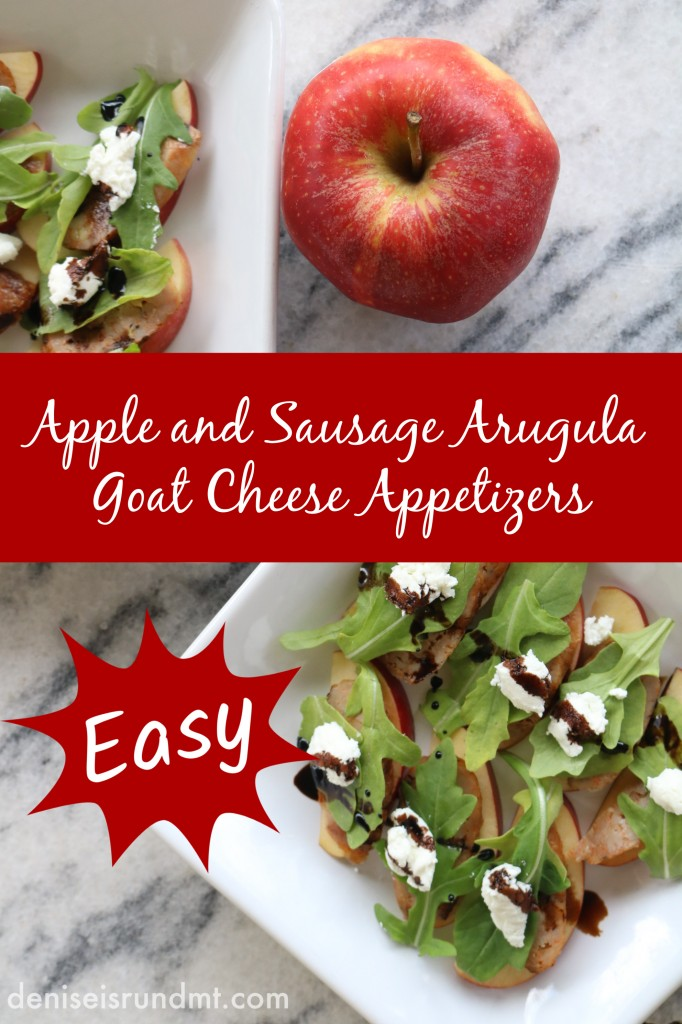 Apple and Sausage Arugula Goat Cheese Appetizers - Run DMT