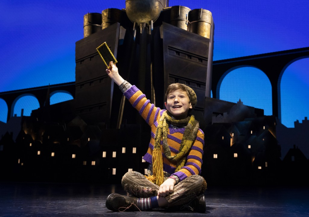 Roald Dahl's CHARLIE AND THE CHOCOLATE FACTORY. Henry Boshart (Charlie Bucket). Photo credit: Joan Marcus.