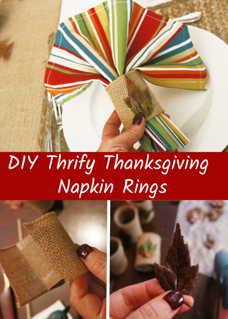 DIY Thrifty Thanksgiving Napkin Rings - Run DMT